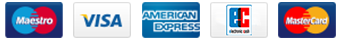 We accept the following credit cards: American-Express, Visa, MasterCard, MaestroCard, E-Cash